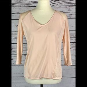 ZARA Peach Blush Long Sleeve